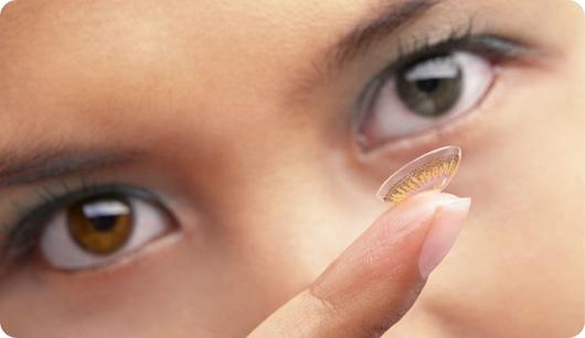 färgade kontaktlinser